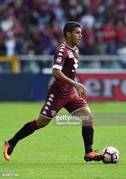 Iago Falque of FC Torino in action during the Serie A match between FC Torino and Empoli FC at Stadio Olimpico di Torino on September 18 2016 in...