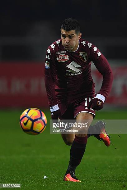 Iago Falque of FC Torino in action during the Serie A match between FC Torino and Genoa CFC at Stadio Olimpico di Torino on December 22 2016 in Turin...