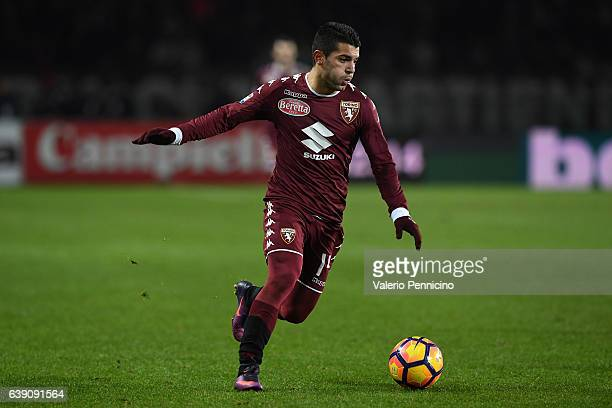 Iago Falque of FC Torino in action during the Serie A match between FC Torino and AC Milan at Stadio Olimpico di Torino on January 16 2017 in Turin...