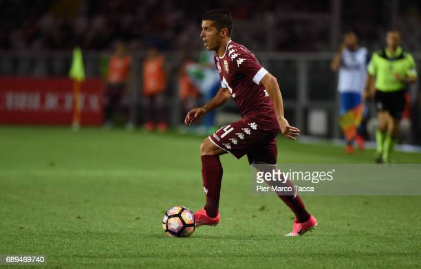 Iago Falque of FC Torino in action during the Serie A match between FC Torino and US Sassuolo at Stadio Olimpico di Torino on May 28 2017 in Turin...