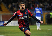 Iago Falque of Genoa CFC celebrates after scoring the opening goal during the Serie A match between UC Sampdoria and Genoa CFC at Stadio Luigi...