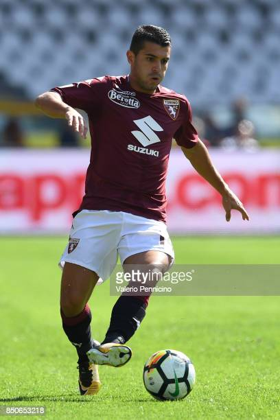 Iago Falque of Torino FC in action during the Serie A match between Torino FC and UC Sampdoria at Stadio Olimpico di Torino on September 17 2017 in...