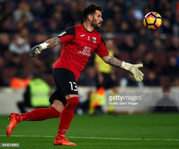Iago Herrerin of Leganes in action during the La Liga match between FC Barcelona and CD Leganes at Camp Nou Stadium on February 19 2017 in Barcelona...