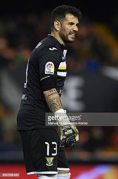 Iago Herrerin of Leganes reacts during the Copa del Rey Round of 16 match between Valencia CF and CD Leganes at Estadio Mestalla on December 21 2016...