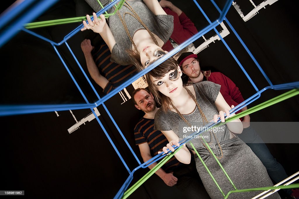 Iain Cook, Lauren Mayberry and Martin Doherty of the band Chvrches pose during a portrait session at The Lighthouse on January 3, 2013 in Glasgow, United Kingdom.