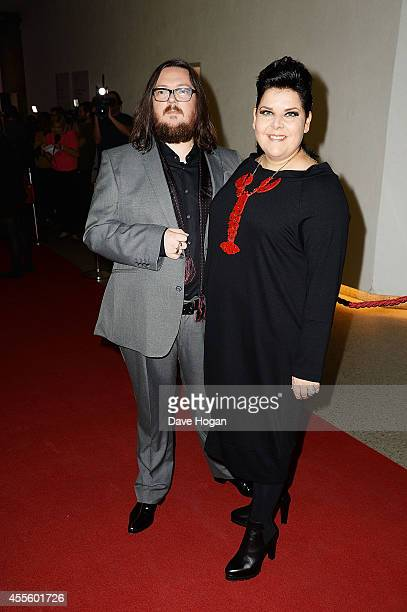Iain Forsyth and Jane Pollard attend the '20000 Days on Earth' Gala preview screening at Barbican Centre on September 17 2014 in London England