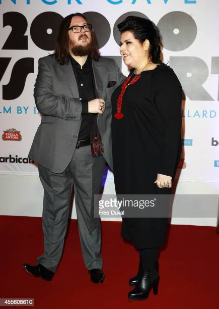 Iain Forsyth and Jane Pollard attends the '20000 Days on Earth' screening at Barbican Centre on September 17 2014 in London England