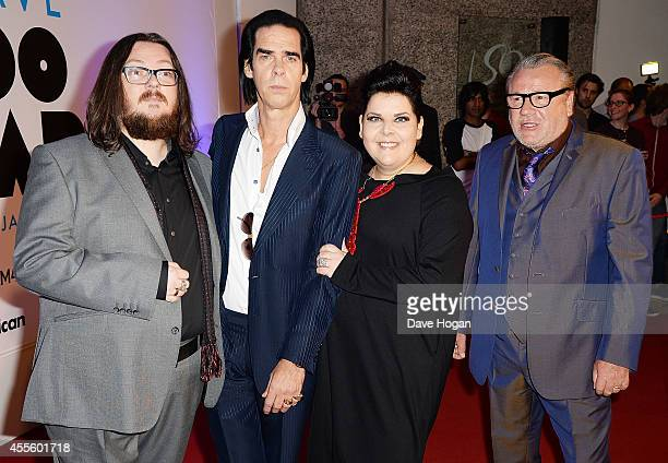 Iain Forsyth Nick Cave Jane Pollard and Ray Winstone attend the '20000 Days on Earth' Gala preview screening at Barbican Centre on September 17 2014...