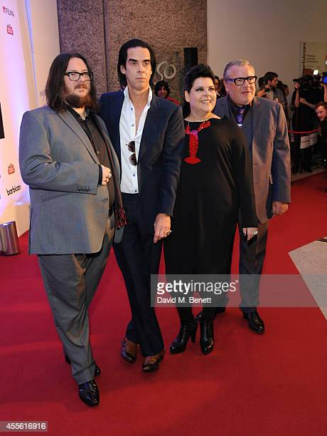 Iain Forsyth Nick Cave Jane Pollard and Ray Winstone attends a Gala Screening of '20000 Days On Earth' at the Barbican Centre on September 17 2014 in...