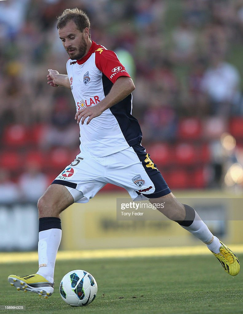 Iain Fyfe of Adelaide in action during the round 15 A-League match between the Newcastle Jets and Adelaide United at Hunter Stadium on January 5, 2013 in Newcastle, Australia.
