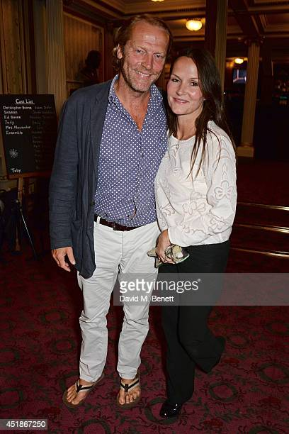 Iain Glen and Charlotte Emmerson attend the press night performance of 'The Curious Incident Of The Dog In The NightTime' at the Gielgud Theatre on...
