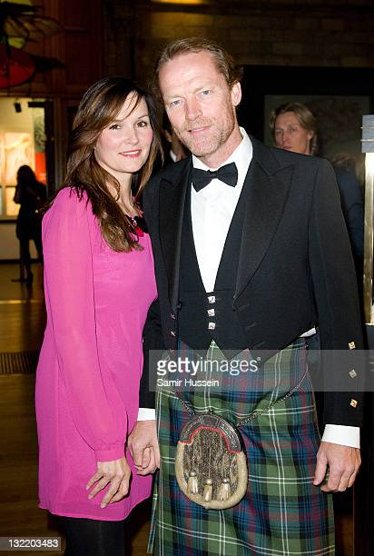 Iain Glen and guest attend the Chain of Hope Charity Event at the National History Museum on November 10 2011 in London England