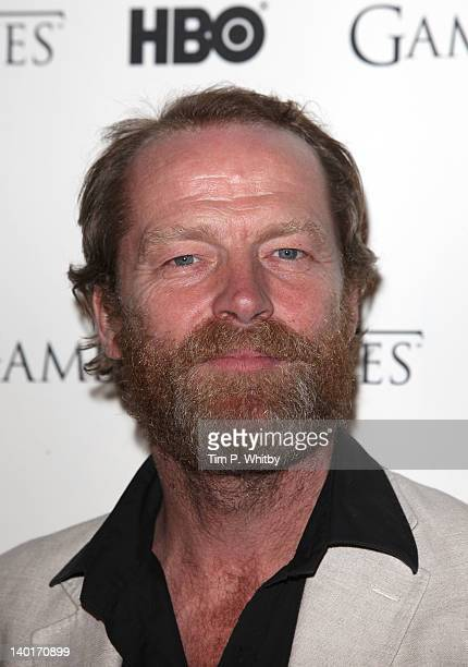 Iain Glen attends the DVD launch of the complete first season of 'Game Of Thrones' at Old Vic Tunnels on February 29 2012 in London England