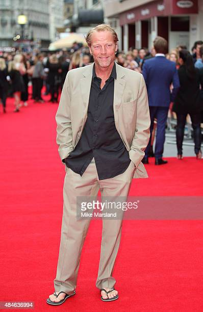 Iain Glen attends the World Premiere of 'The Bad Education Movie' at Vue West End on August 20 2015 in London England