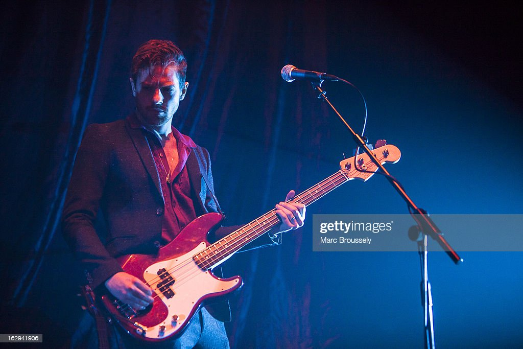 Iain Lock of Zulu Winter performs on stage at Hammersmith Apollo on March 1, 2013 in London, England.