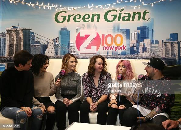 Iain Shipp Nia Lovelis Miranda Miller Rena Lovelis Casey Moreta of the band Hey Violet speak with Mo' Bounce at the Z100 CocaCola All Access Lounge...
