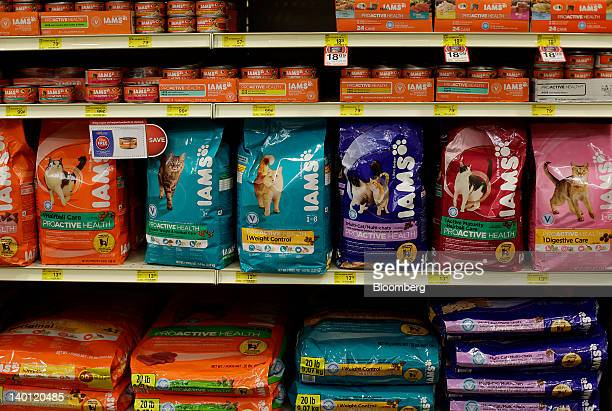 Iam Co cat food a subsidiary of The Proctor $ Gamble Co is displayed for sale at a PetSmart Inc store in New York US on Monday Feb 27 2012 PetSmart...