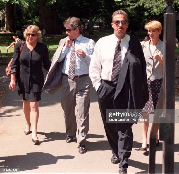 Ian and Kathy Botham and Allan and Lindsay Lamb take a break from the High Court today where the former England cricketing colleagues are suing...