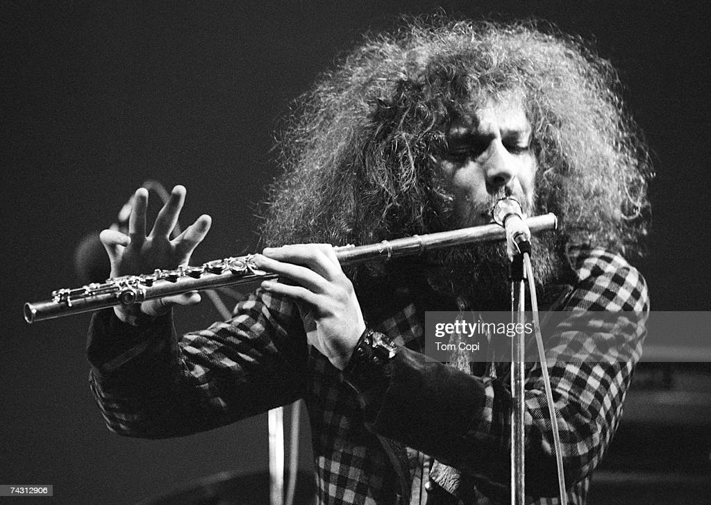 <a gi-track='captionPersonalityLinkClicked' href=/galleries/search?phrase=Ian+Anderson&family=editorial&specificpeople=615834 ng-click='$event.stopPropagation()'>Ian Anderson</a> of the English progressive rock band Jethro Tull plays the flute at the Newport Jazz Festival on June 21, 1969 in Newport, Rhode Island.