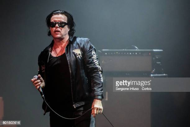Ian Astbury of British rock band The Cult performs on stage at Alcatraz on June 26 2017 in Milan Italy