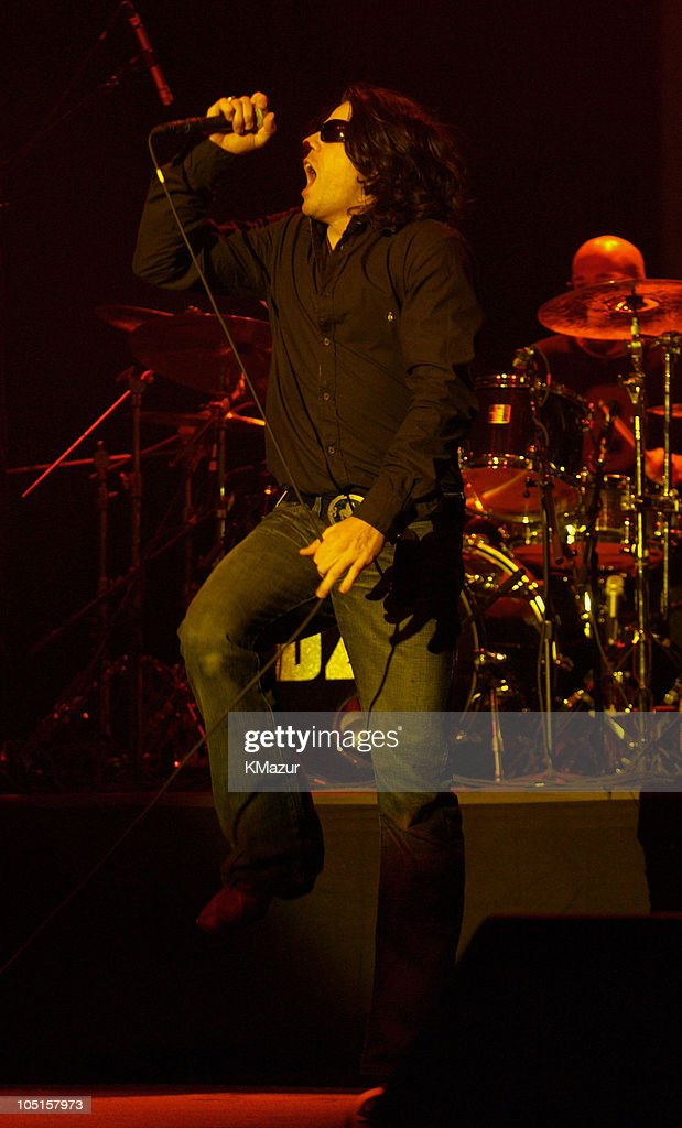Ian Astbury of The Doors of the 21st Century during The Doors of the 21st Century in Concert at Jones Beach on August 24, 2003 at Jones Beach Theater in Wantagh, New York, United States.