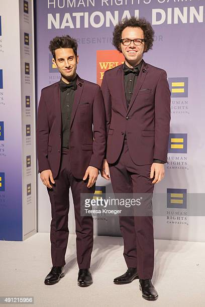Ian Axel and Chad King of A Great Big World attend the 19th Annual HRC National Dinner at Walter E Washington Convention Center on October 3 2015 in...