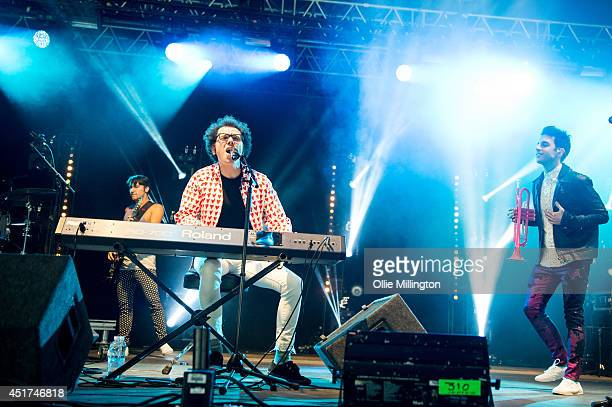 Ian Axel and Chad Vaccarino of A Great Big World perform on stage at Wireless Birmingham at Perry Park on July 5 2014 in Birmingham United Kingdom