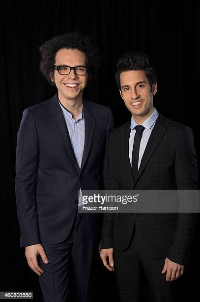 Ian Axel and Chad Vaccarino of A Great Big World pose for a portrait at Logo TV's NewNowNext Awards on December 2 2014 at Kimpton Surfcomber Hotel in...