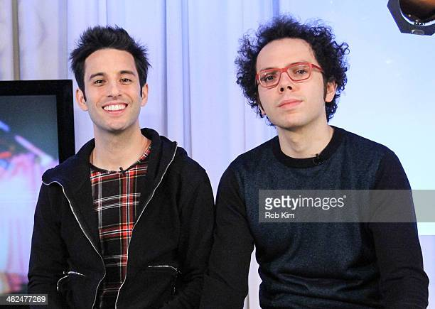 Ian Axel and Chad Vaccarino of A Great Big World visit at Music Choice on January 13 2014 in New York City