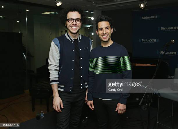 Ian Axel and Chad Vaccarino of A Great Big World visit the SiriusXM Studios on November 9 2015 in New York City