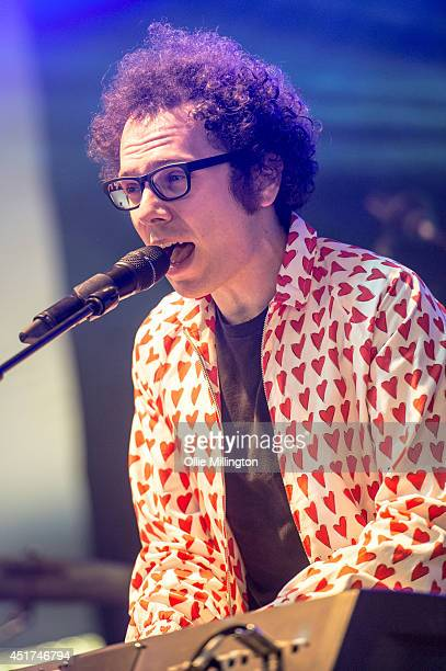 Ian Axel of A Great Big World performs on stage at Wireless Birmingham at Perry Park on July 5 2014 in Birmingham United Kingdom