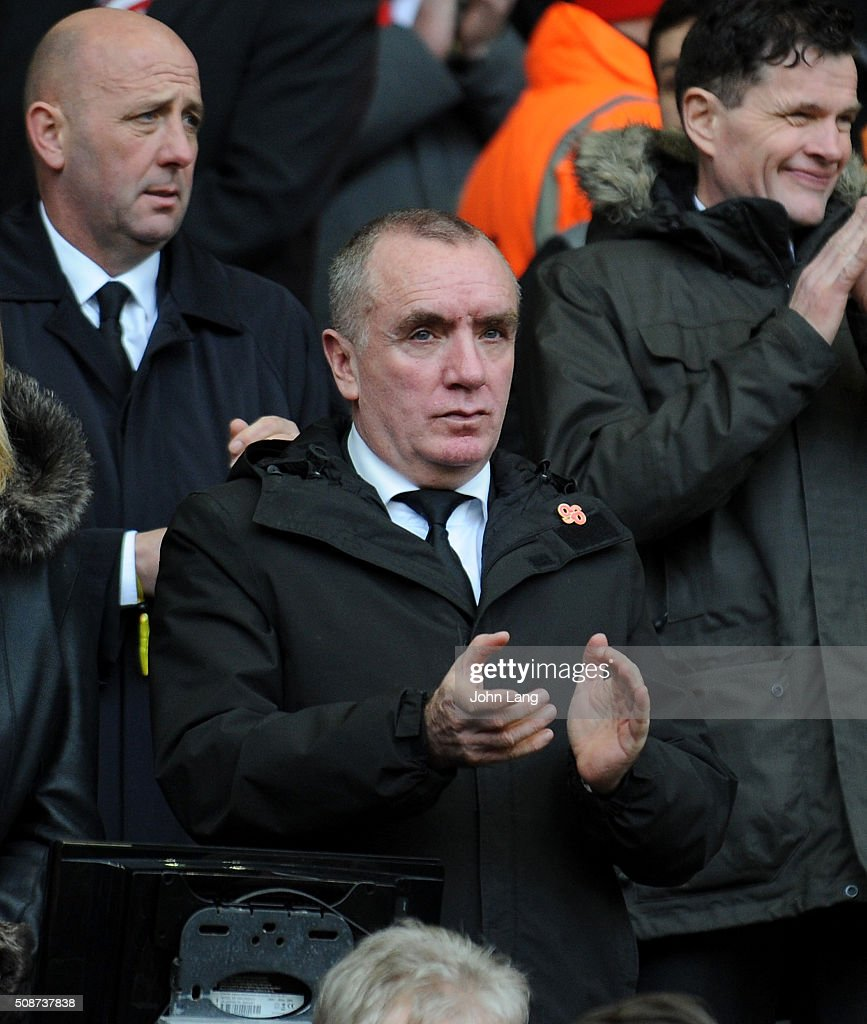 <a gi-track='captionPersonalityLinkClicked' href=/galleries/search?phrase=Ian+Ayre&family=editorial&specificpeople=5987754 ng-click='$event.stopPropagation()'>Ian Ayre</a> Chief Executive of Liverpool claps before the Barclays Premier League match between Liverpool and Sunderland at Anfield on February 6, 2016 in Liverpool, England.
