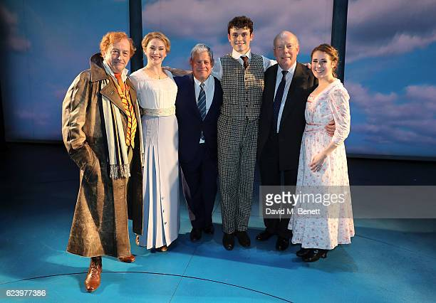 Ian Bartholomew Emma Williams Cameron Mackintosh Charlie Stemp Julian Fellowes and DevonElise Johonson bow at the curtain call during the press night...