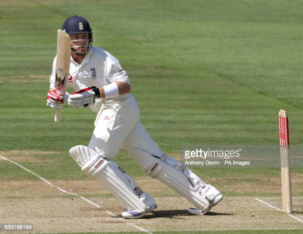 Ian Bell in action during the second day of the Npower Test Match between England and India at Lord's Cricket Ground London