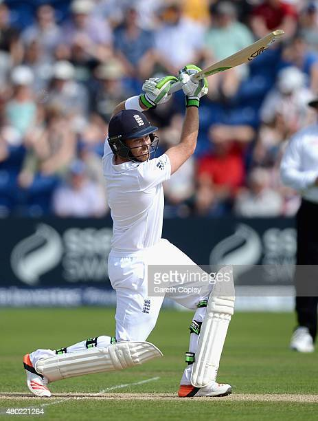 Ian Bell of England bats during day three of the 1st Investec Ashes Test match between England and Australia at SWALEC Stadium on July 10 2015 in...