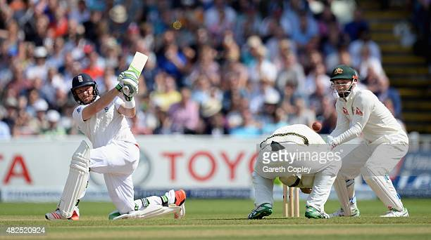 Ian Bell of England bats during day three of the 3rd Investec Ashes Test match between England and Australia at Edgbaston on July 31 2015 in...