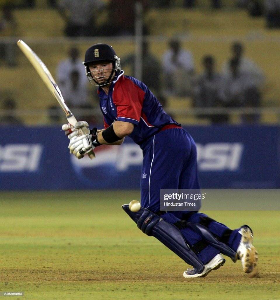 Ian Bell of England in action against West Indies in ICC Champions Trophy, Ahmedabad on Saturday.