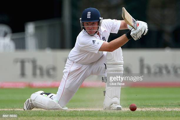 Ian Bell of England Lions in action during the Ashes warmup match between England Lions and Australia at New Road on July 4 2009 in Worcester England