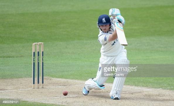 Ian Bell of Warwickshire bats during day three of the LV County Championship division One match between Yorkshire and Warwickshire at Headingley on...