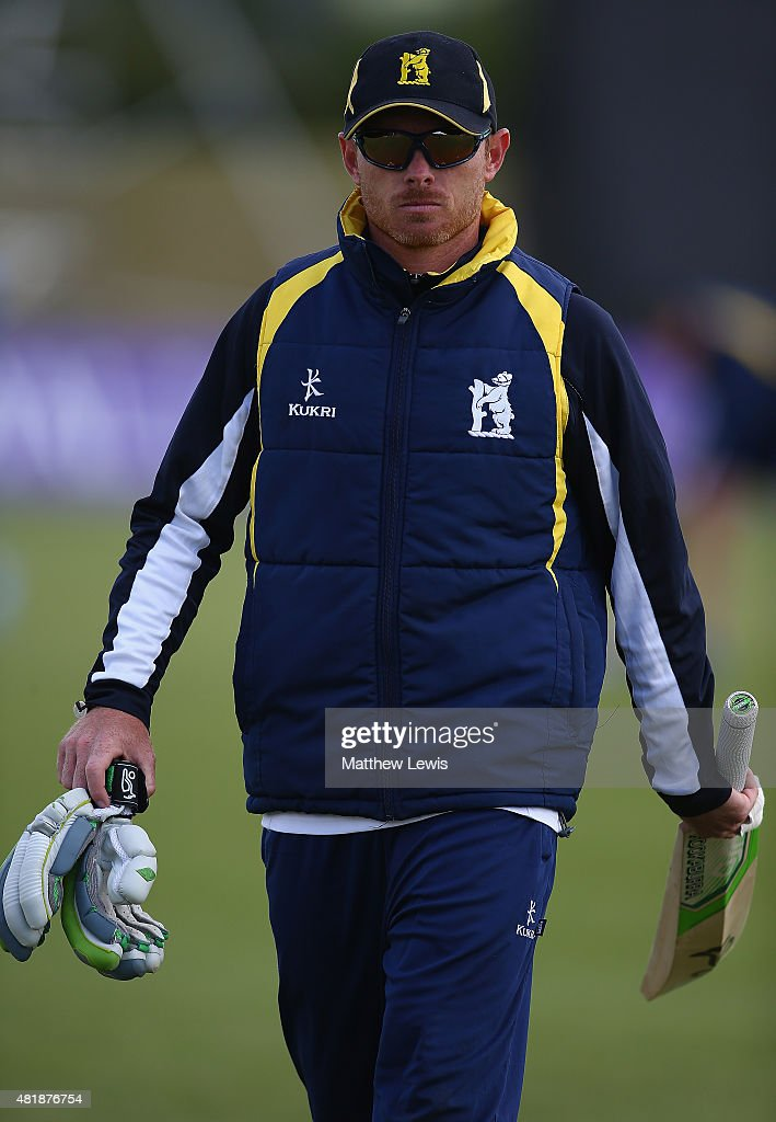 Ian Bell of Warwickshire looks on ahead of during the Royal London OneDay Cup match between Nottinghamshire and Warwickshire at Welbeck Colliery...