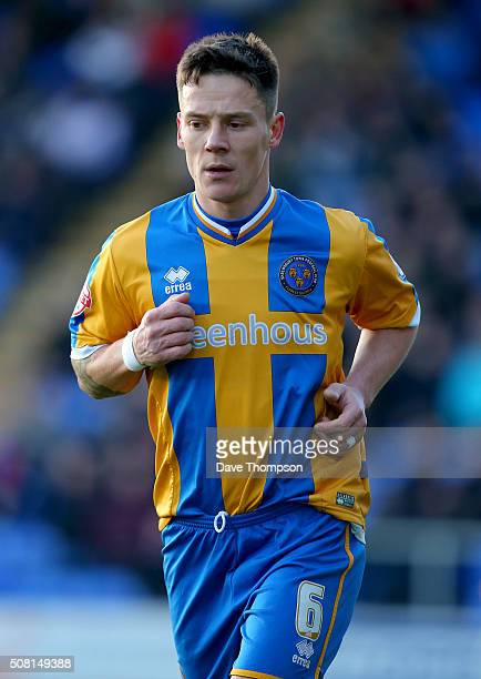 Ian Black of Shrewsbury Town during The Emirates FA Cup Fourth Round tie at New Meadow on January 30 2016 in Shrewsbury England