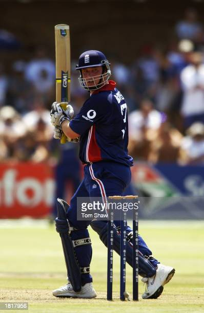 Ian Blackwell of England in action during the ICC Cricket World Cup 2003 Pool A match between England and Namibia held on February 19 2003 at St...