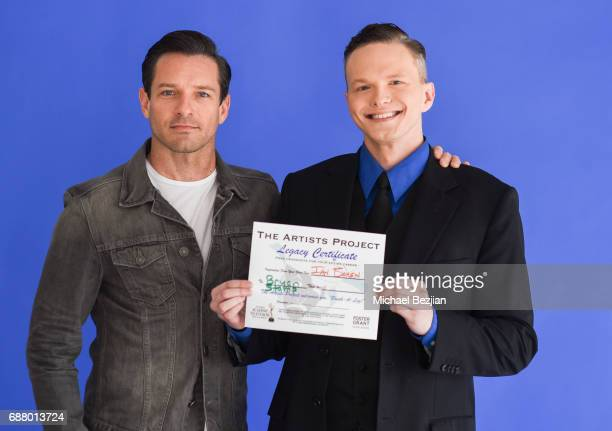 Ian Bohen and Bryan Stamp recieving their certificates at The Artists Project Giveback Day with Ojai Energetics CBD Oil on May 24 2017 in Los Angeles...