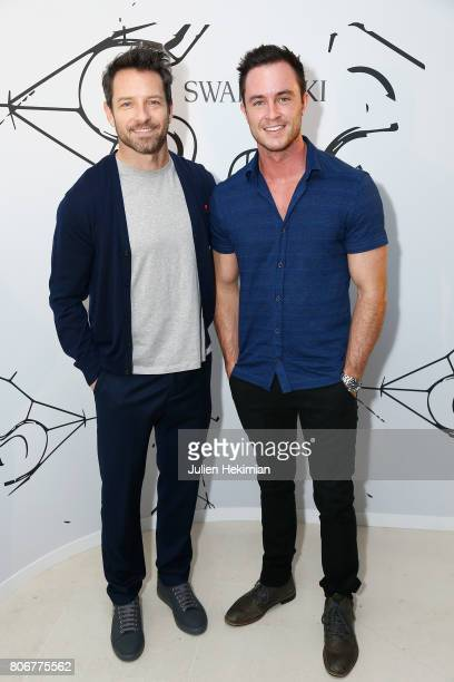 Ian Bohen and Ryan Kelley attend the Iris Van Herpen X Swarovski Cocktail Haute Couture Fall/Winter 20172018 show as part of Haute Couture Paris...