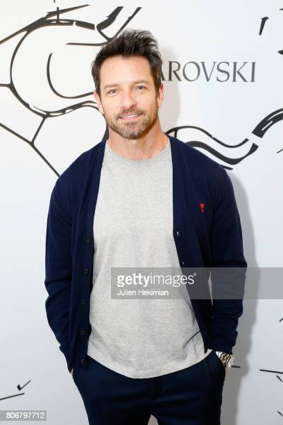Ian Bohen attends the Iris Van Herpen X Swarovski Cocktail Haute Couture Fall/Winter 20172018 show as part of Haute Couture Paris Fashion Week on...