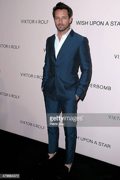 Ian Bohen attends the ViktorRolf FlowerBomb Fragrance 10th Anniversary Party as part of Paris Fashion Week Haute Couture Fall/Winter 2015/2016 on...