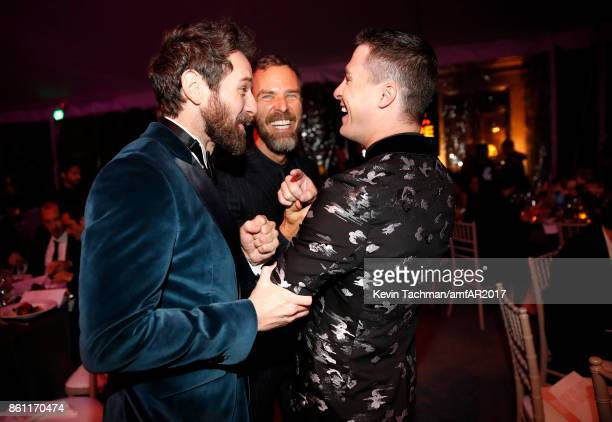 Ian Bohen JR Bourne and Colton Haynes at amfAR Los Angeles 2017 at Ron Burkle's Green Acres Estate on October 13 2017 in Beverly Hills Californi