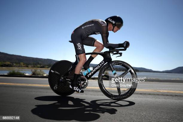 Ian Boswell of United States riding for Team Sky rides during stage five of the AMGEN Tour of California from Ontario to Mt Baldy on May 18 2017 in...