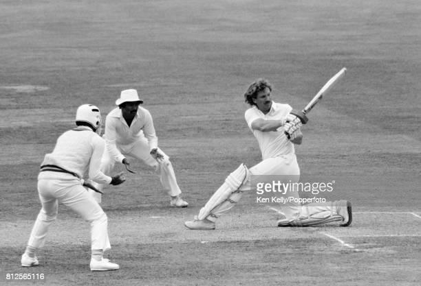 Ian Botham batting for England during his innings of 31 in the 2nd Test match between England and Pakistan at Lord's Cricket Ground London 14th...