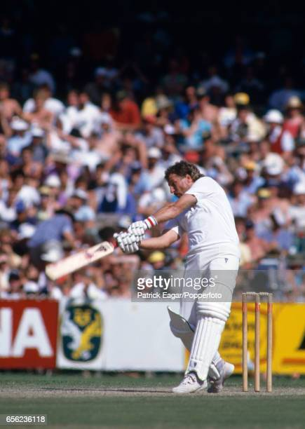Ian Botham batting for England during the 4th Test match between Australia and England at the MCG Melbourne Australia 27th December 1986 England won...